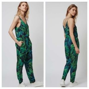 TopShop palm tree jumpsuit
